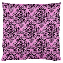 Damask1 Black Marble & Pink Colored Pencil Standard Flano Cushion Case (two Sides) by trendistuff