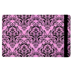 Damask1 Black Marble & Pink Colored Pencil Apple Ipad Pro 12 9   Flip Case by trendistuff
