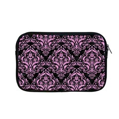 Damask1 Black Marble & Pink Colored Pencil (r) Apple Macbook Pro 13  Zipper Case by trendistuff
