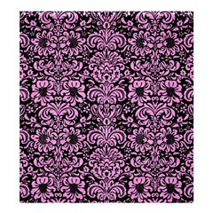 Damask2 Black Marble & Pink Colored Pencil (r) Shower Curtain 66  X 72  (large)  by trendistuff