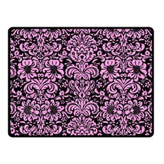 Damask2 Black Marble & Pink Colored Pencil (r) Fleece Blanket (small) by trendistuff