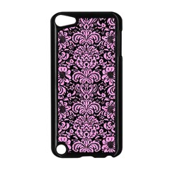 Damask2 Black Marble & Pink Colored Pencil (r) Apple Ipod Touch 5 Case (black) by trendistuff