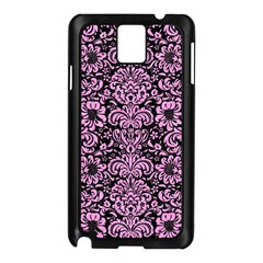 Damask2 Black Marble & Pink Colored Pencil (r) Samsung Galaxy Note 3 N9005 Case (black) by trendistuff
