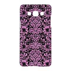 Damask2 Black Marble & Pink Colored Pencil (r) Samsung Galaxy A5 Hardshell Case  by trendistuff