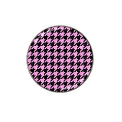 Houndstooth1 Black Marble & Pink Colored Pencil Hat Clip Ball Marker (10 Pack) by trendistuff