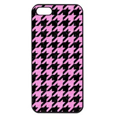 Houndstooth1 Black Marble & Pink Colored Pencil Apple Iphone 5 Seamless Case (black) by trendistuff