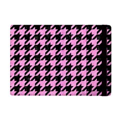 Houndstooth1 Black Marble & Pink Colored Pencil Ipad Mini 2 Flip Cases by trendistuff