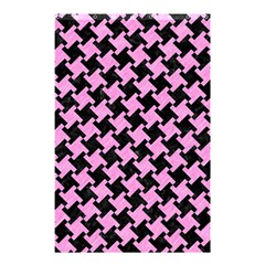 Houndstooth2 Black Marble & Pink Colored Pencil Shower Curtain 48  X 72  (small)  by trendistuff