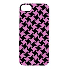 Houndstooth2 Black Marble & Pink Colored Pencil Apple Iphone 5s/ Se Hardshell Case by trendistuff