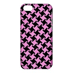Houndstooth2 Black Marble & Pink Colored Pencil Apple Iphone 5c Hardshell Case by trendistuff