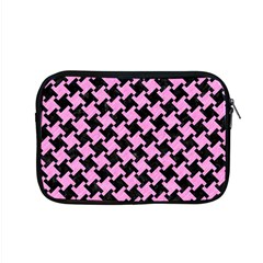 Houndstooth2 Black Marble & Pink Colored Pencil Apple Macbook Pro 15  Zipper Case by trendistuff