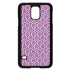 Hexagon1 Black Marble & Pink Colored Pencil Samsung Galaxy S5 Case (black) by trendistuff