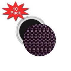 Hexagon1 Black Marble & Pink Colored Pencil (r) 1 75  Magnets (10 Pack)  by trendistuff