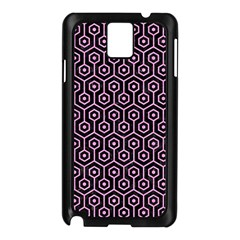 Hexagon1 Black Marble & Pink Colored Pencil (r) Samsung Galaxy Note 3 N9005 Case (black)