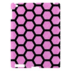 Hexagon2 Black Marble & Pink Colored Pencil Apple Ipad 3/4 Hardshell Case by trendistuff