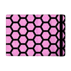 Hexagon2 Black Marble & Pink Colored Pencil Ipad Mini 2 Flip Cases by trendistuff