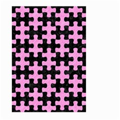 Puzzle1 Black Marble & Pink Colored Pencil Large Garden Flag (two Sides) by trendistuff