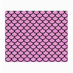 Scales1 Black Marble & Pink Colored Pencil Small Glasses Cloth (2 Side) by trendistuff