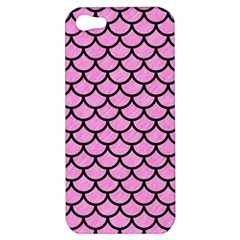 Scales1 Black Marble & Pink Colored Pencil Apple Iphone 5 Hardshell Case by trendistuff