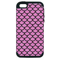 Scales1 Black Marble & Pink Colored Pencil Apple Iphone 5 Hardshell Case (pc+silicone) by trendistuff