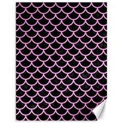 Scales1 Black Marble & Pink Colored Pencil (r) Canvas 12  X 16   by trendistuff