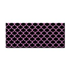 Scales1 Black Marble & Pink Colored Pencil (r) Cosmetic Storage Cases by trendistuff