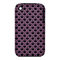 Scales2 Black Marble & Pink Colored Pencil (r) Iphone 3s/3gs by trendistuff