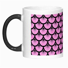 Scales3 Black Marble & Pink Colored Pencil Morph Mugs by trendistuff