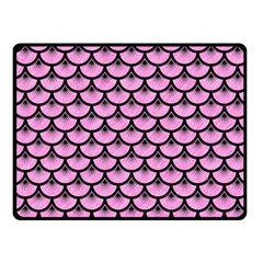 Scales3 Black Marble & Pink Colored Pencil Fleece Blanket (small) by trendistuff