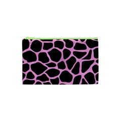 Skin1 Black Marble & Pink Colored Pencil Cosmetic Bag (xs) by trendistuff