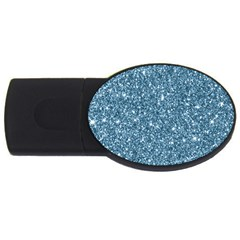 New Sparkling Glitter Print F Usb Flash Drive Oval (2 Gb) by MoreColorsinLife
