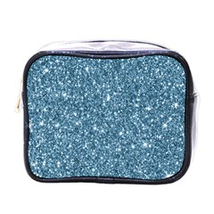 New Sparkling Glitter Print F Mini Toiletries Bags by MoreColorsinLife