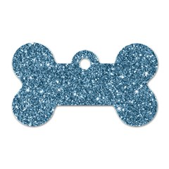 New Sparkling Glitter Print F Dog Tag Bone (one Side) by MoreColorsinLife