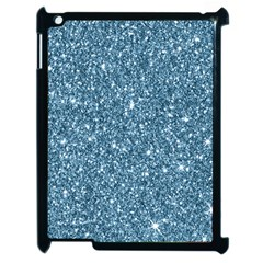 New Sparkling Glitter Print F Apple Ipad 2 Case (black) by MoreColorsinLife