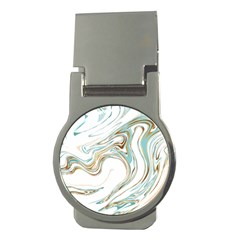 Abstract Marble 1 Money Clips (round)