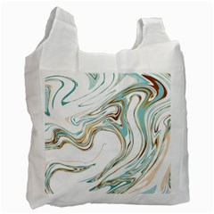Abstract Marble 1 Recycle Bag (one Side) by tarastyle
