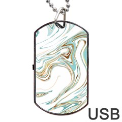 Abstract Marble 1 Dog Tag Usb Flash (two Sides) by tarastyle