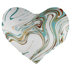 Abstract Marble 1 Large 19  Premium Heart Shape Cushions by tarastyle