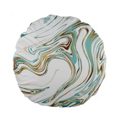 Abstract Marble 1 Standard 15  Premium Round Cushions by tarastyle