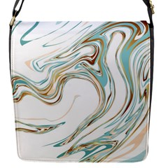 Abstract Marble 1 Flap Messenger Bag (s) by tarastyle