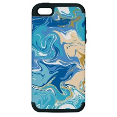 Abstract Marble 2 Apple Iphone 5 Hardshell Case (pc+silicone) by tarastyle