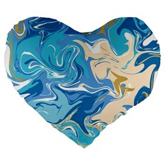 Abstract Marble 2 Large 19  Premium Heart Shape Cushions by tarastyle
