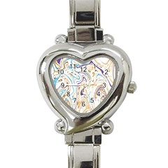 Abstract Marble 3 Heart Italian Charm Watch by tarastyle