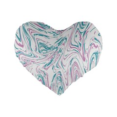 Abstract Marble 4 Standard 16  Premium Heart Shape Cushions by tarastyle
