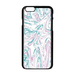 Abstract Marble 4 Apple Iphone 6/6s Black Enamel Case by tarastyle
