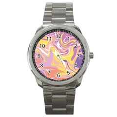 Abstract Marble 5 Sport Metal Watch by tarastyle
