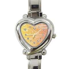 Abstract Marble 6 Heart Italian Charm Watch by tarastyle