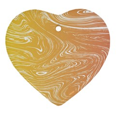 Abstract Marble 6 Heart Ornament (two Sides) by tarastyle
