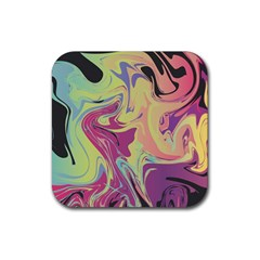 Abstract Marble 8 Rubber Square Coaster (4 Pack)  by tarastyle