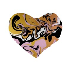 Abstract Marble 9 Standard 16  Premium Heart Shape Cushions